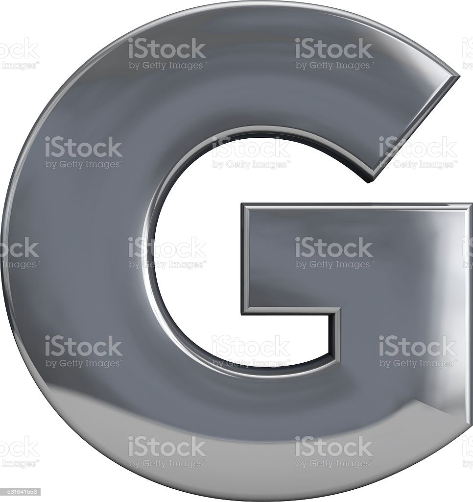 Metal Letter G stock photo