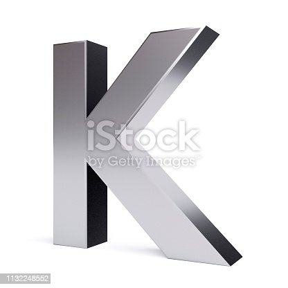 istock Metal letter K. Collection. 1132248552