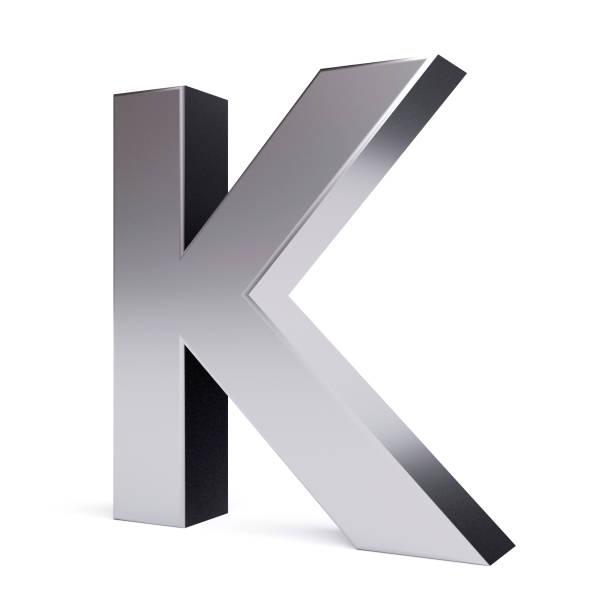 metal letter k. collection. - буква k стоковые фото и изображения