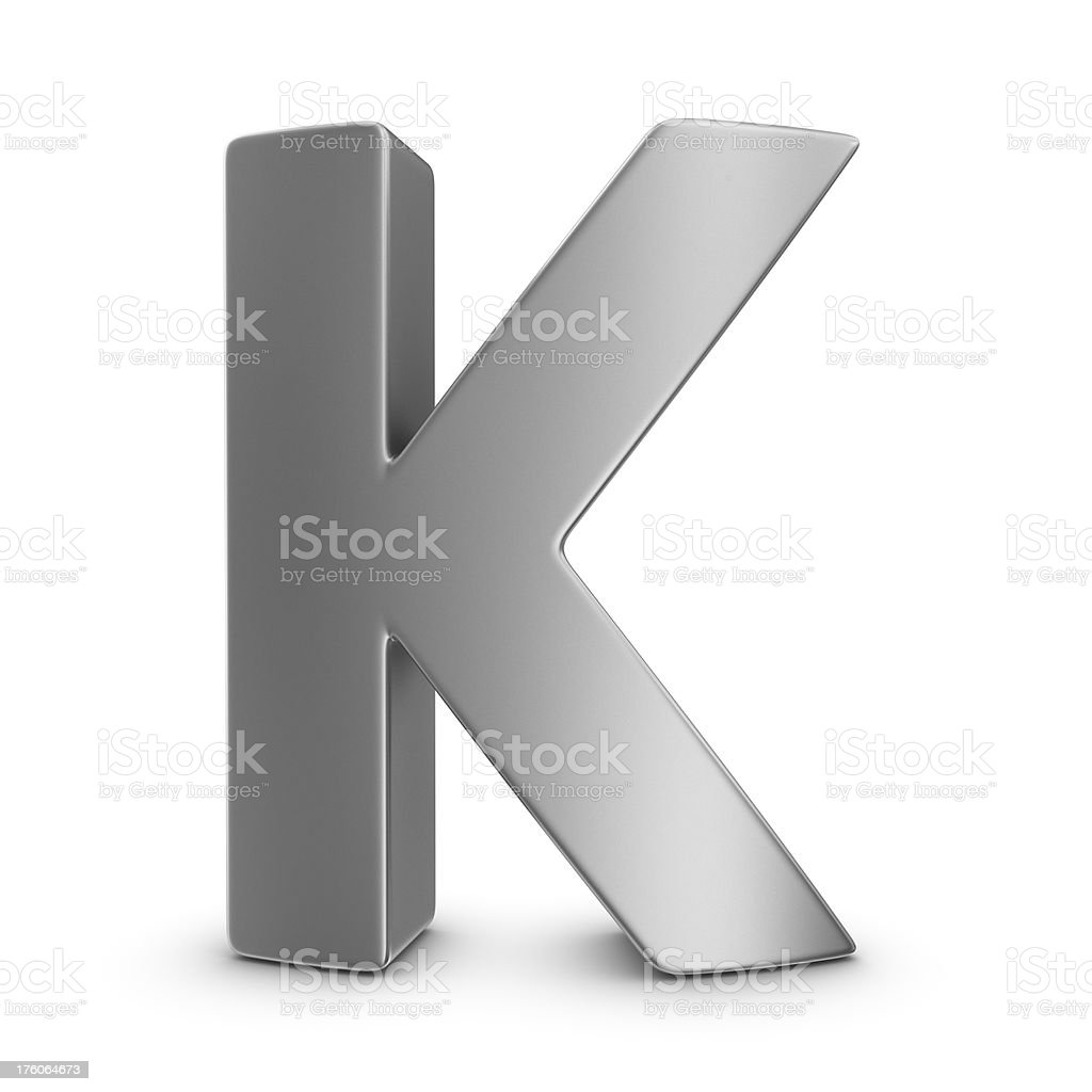 metal letter K royalty-free stock photo