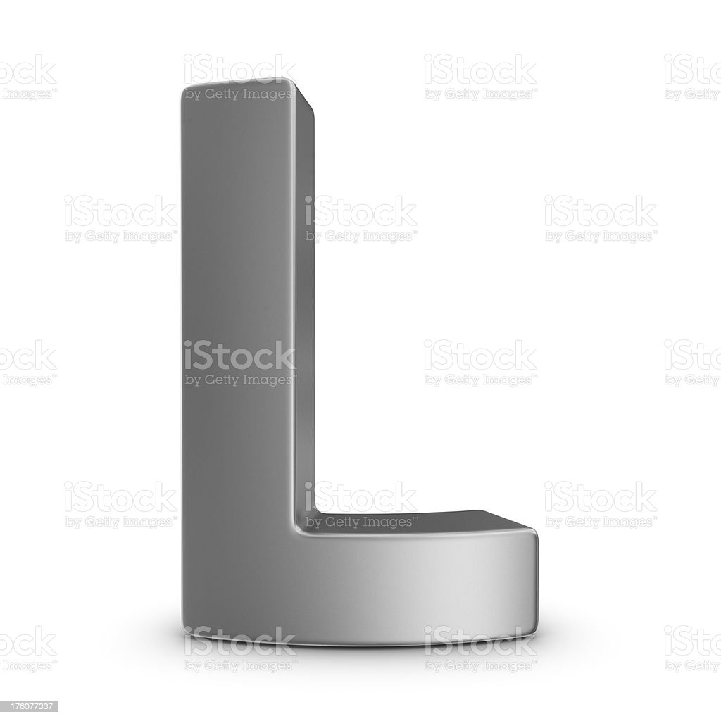 metal letter L royalty-free stock photo