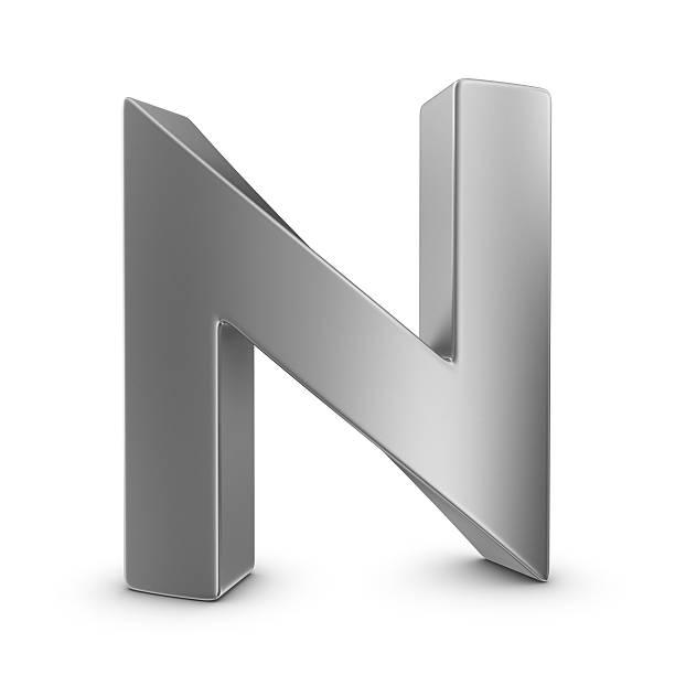 Metall Buchstaben N – Foto