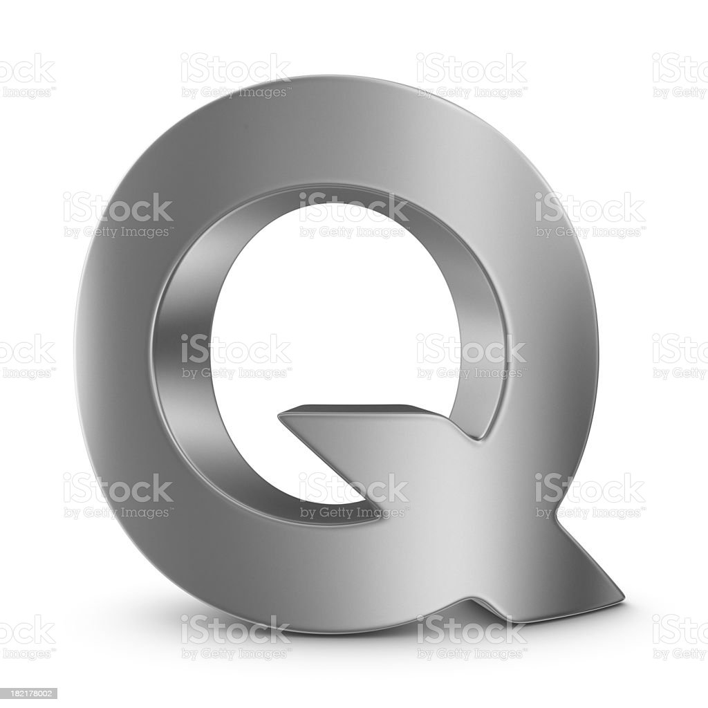 metal letter Q stock photo