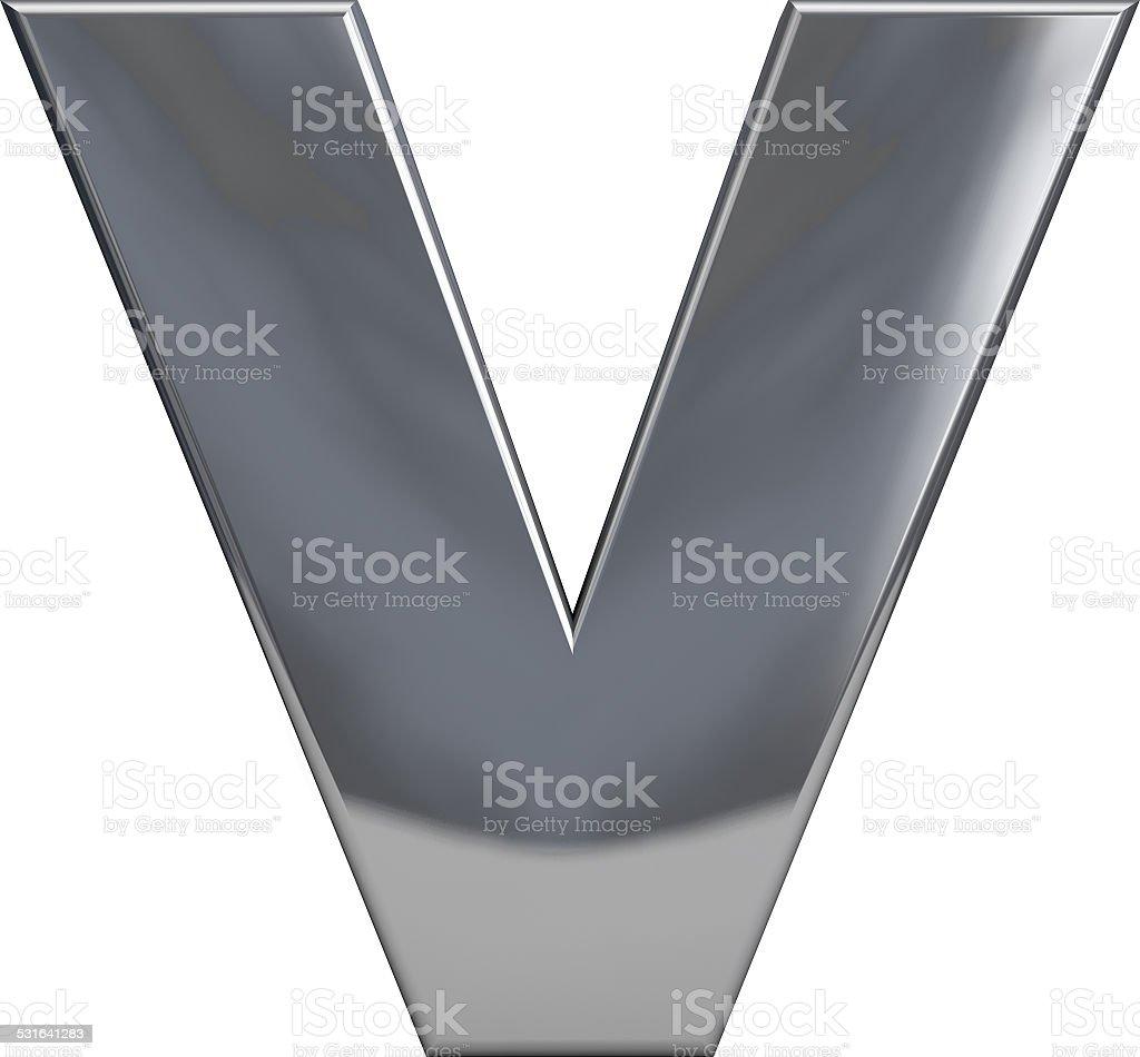 Metal letra V - foto de stock
