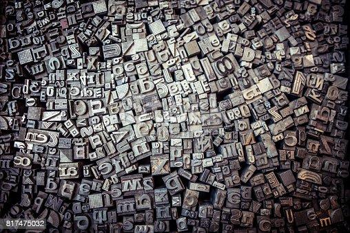 istock Metal letterpress 817475032