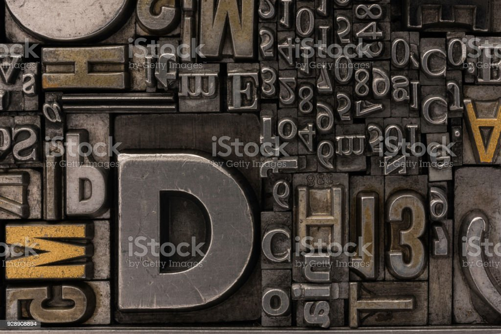 Metal Letterpress Types Stock Photo & More Pictures of