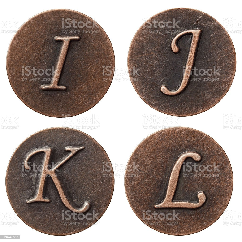 Metal letters royalty-free stock photo