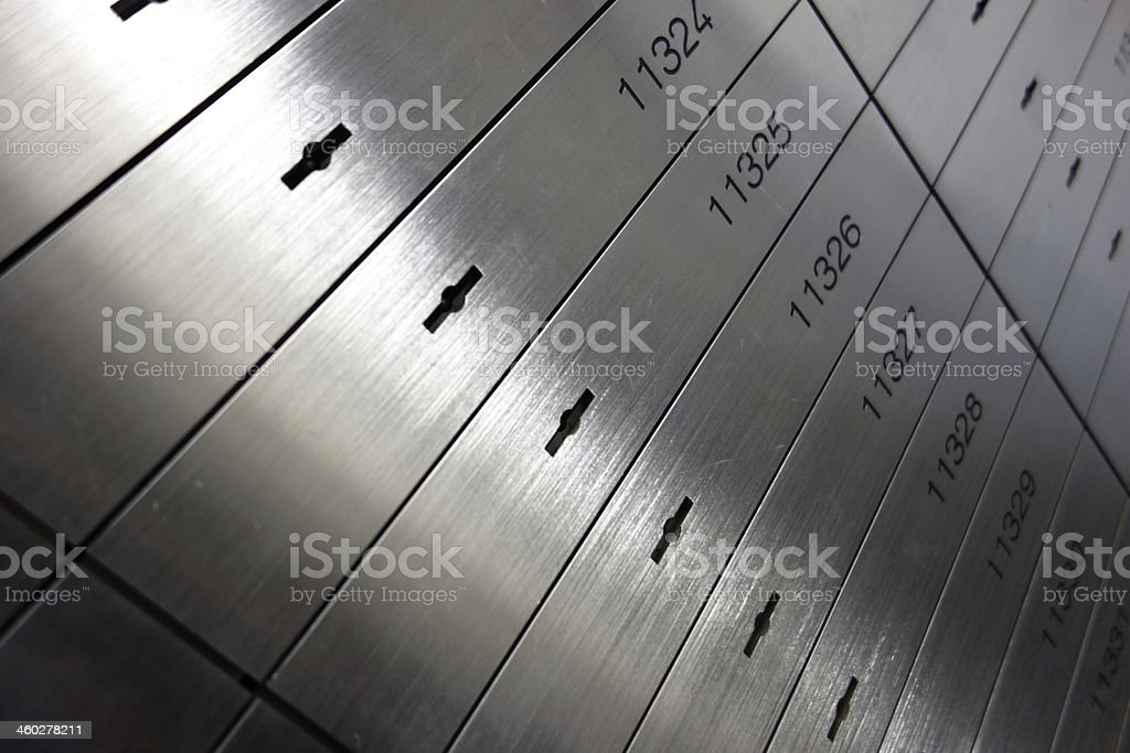A metal locker to save a documents stock photo