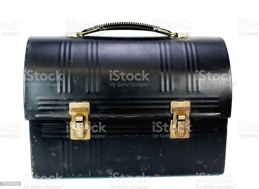 Metal Lunchbox stock photo