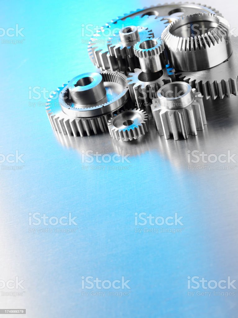Metal Machine Wheels and Cogs royalty-free stock photo