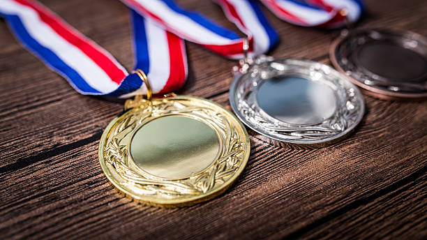 metal medal - medal stock photos and pictures