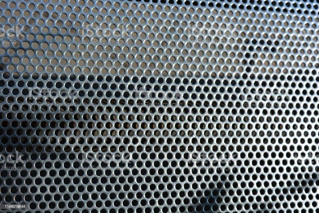Malla Metálica Fondo Con Agujeros Idénticos Redondos Estructura Metálica Foto De Stock Y Más Banco De Imágenes De Abstracto