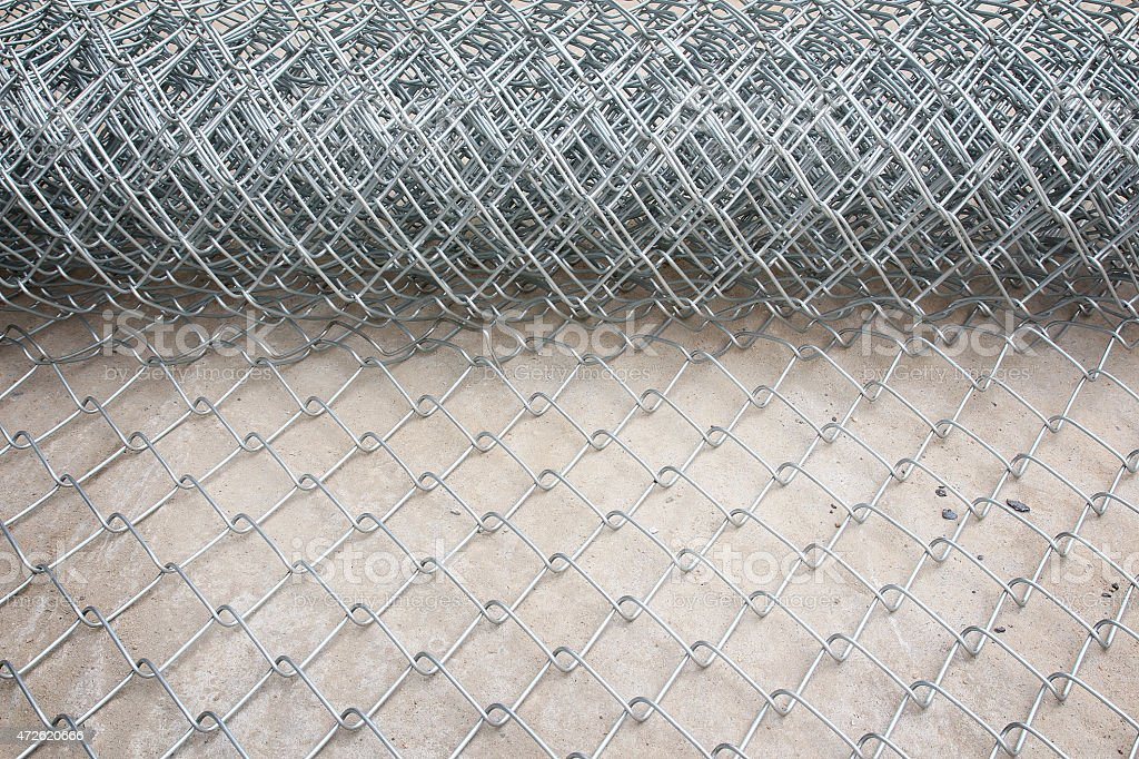 Metal mesh. stock photo