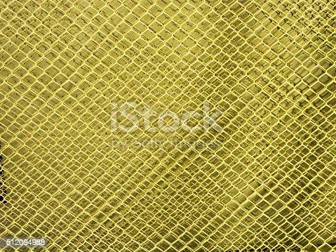 istock metal mesh Seamless Pattern with yellow 512094988