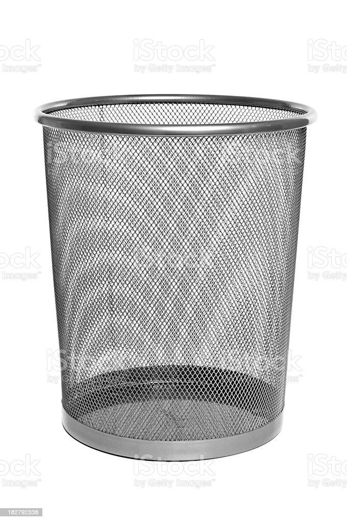 Metal Mesh Trash Can - Empty royalty-free stock photo