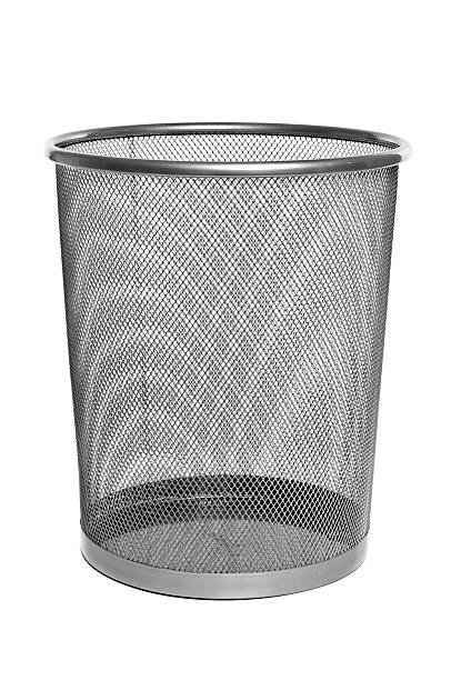 Metal Mesh Trash Can - Empty stock photo