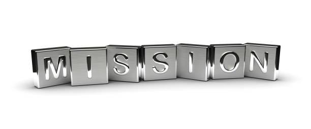 texto misión metal - misión fotografías e imágenes de stock