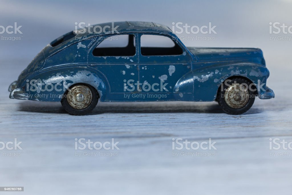 Metal model of  retro car, for collection  and play t stock photo