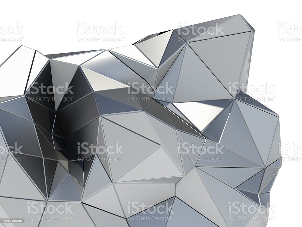 Metal modern building on white background royalty-free stock photo