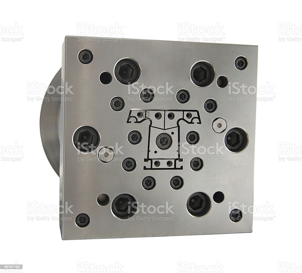 metal mold stock photo