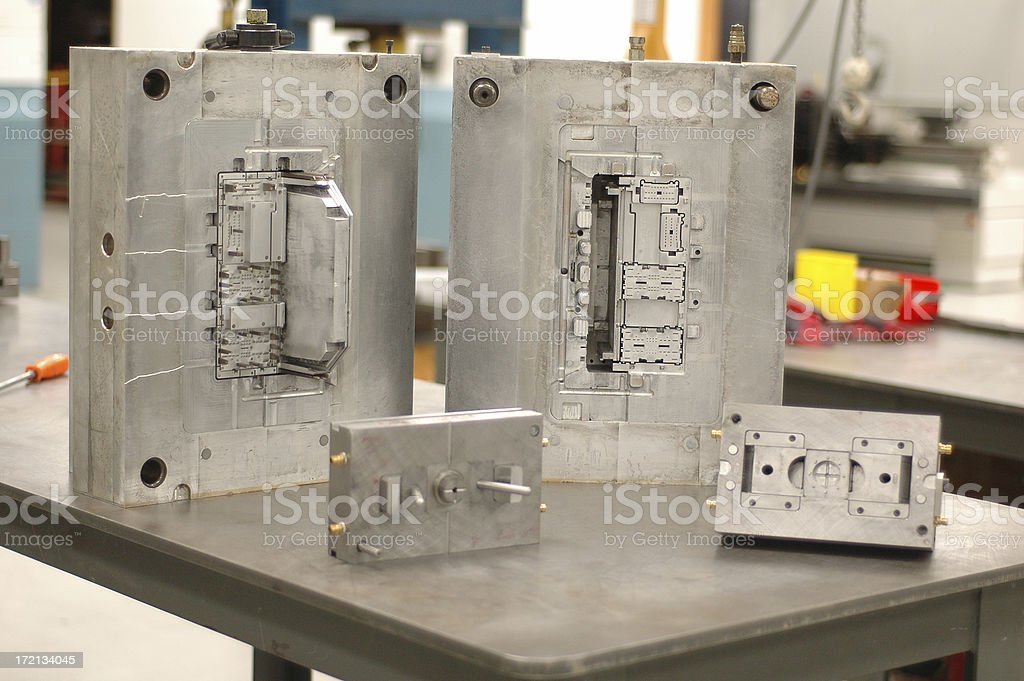 Metal Molding Units royalty-free stock photo