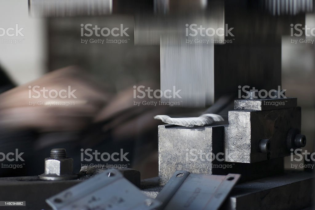 Metal Mould Working stock photo