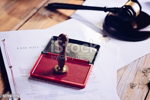 istock Metal notary public ink stamper 827867774