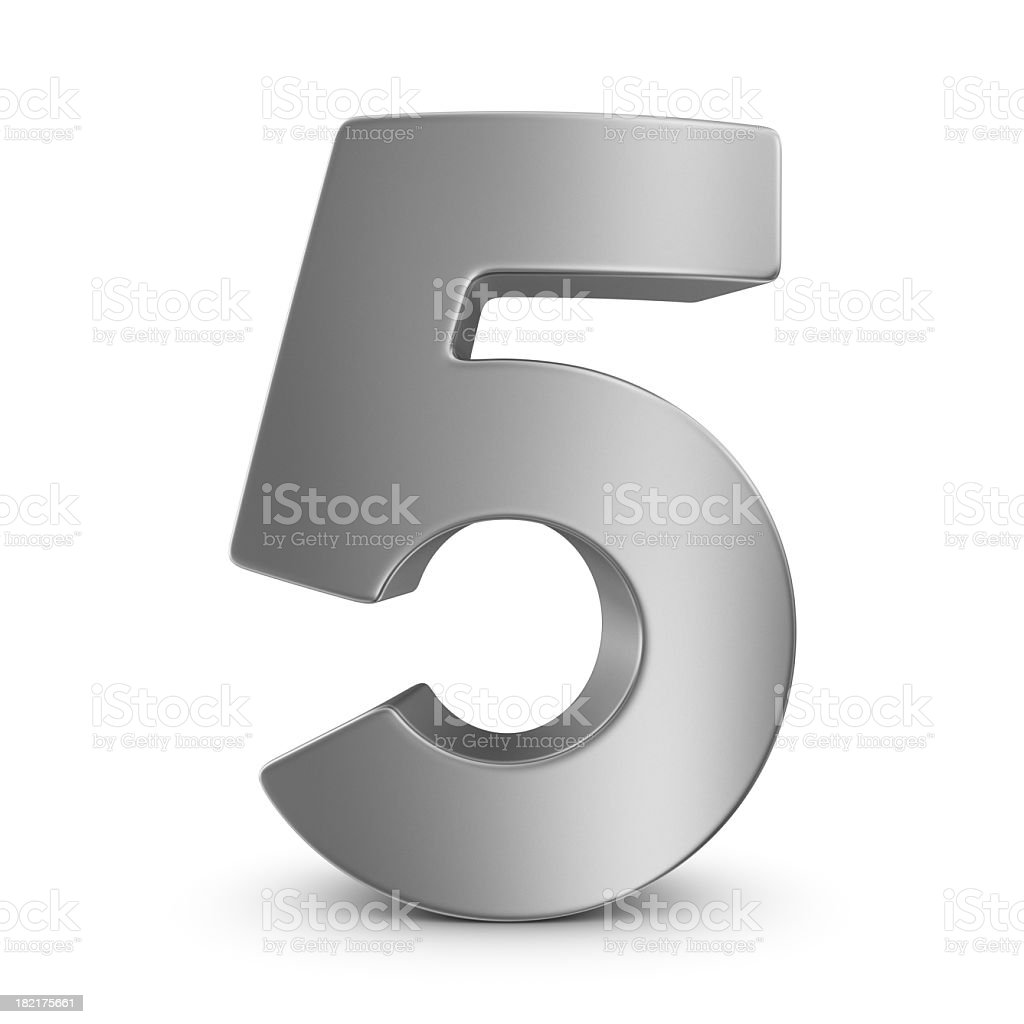 metal number 5 royalty-free stock photo