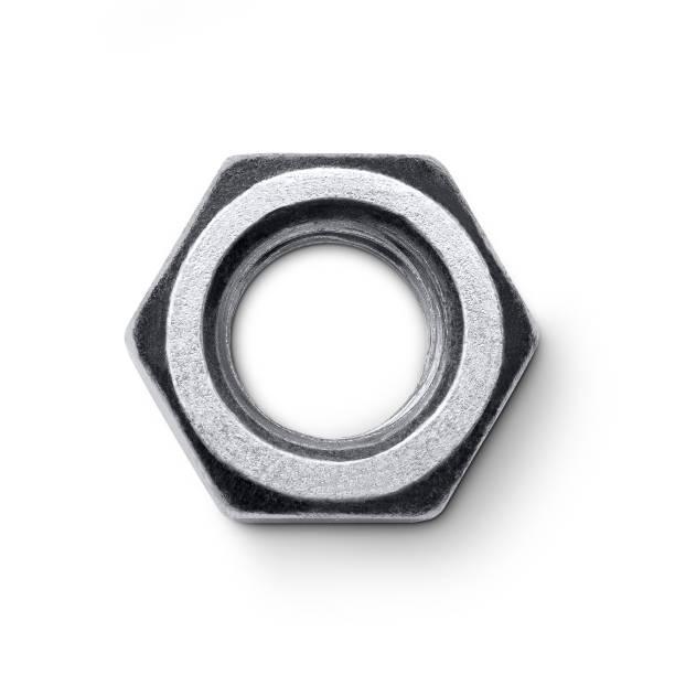Metal nut stock photo