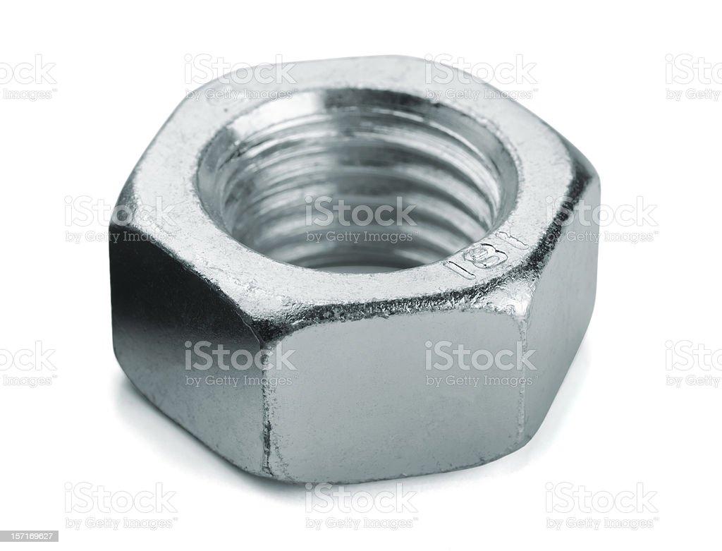 Metal nut royalty-free stock photo