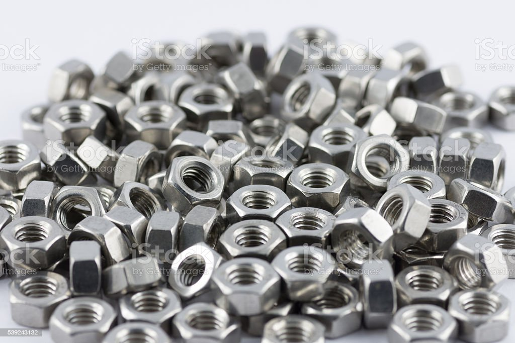 Metal nuts royalty-free stock photo