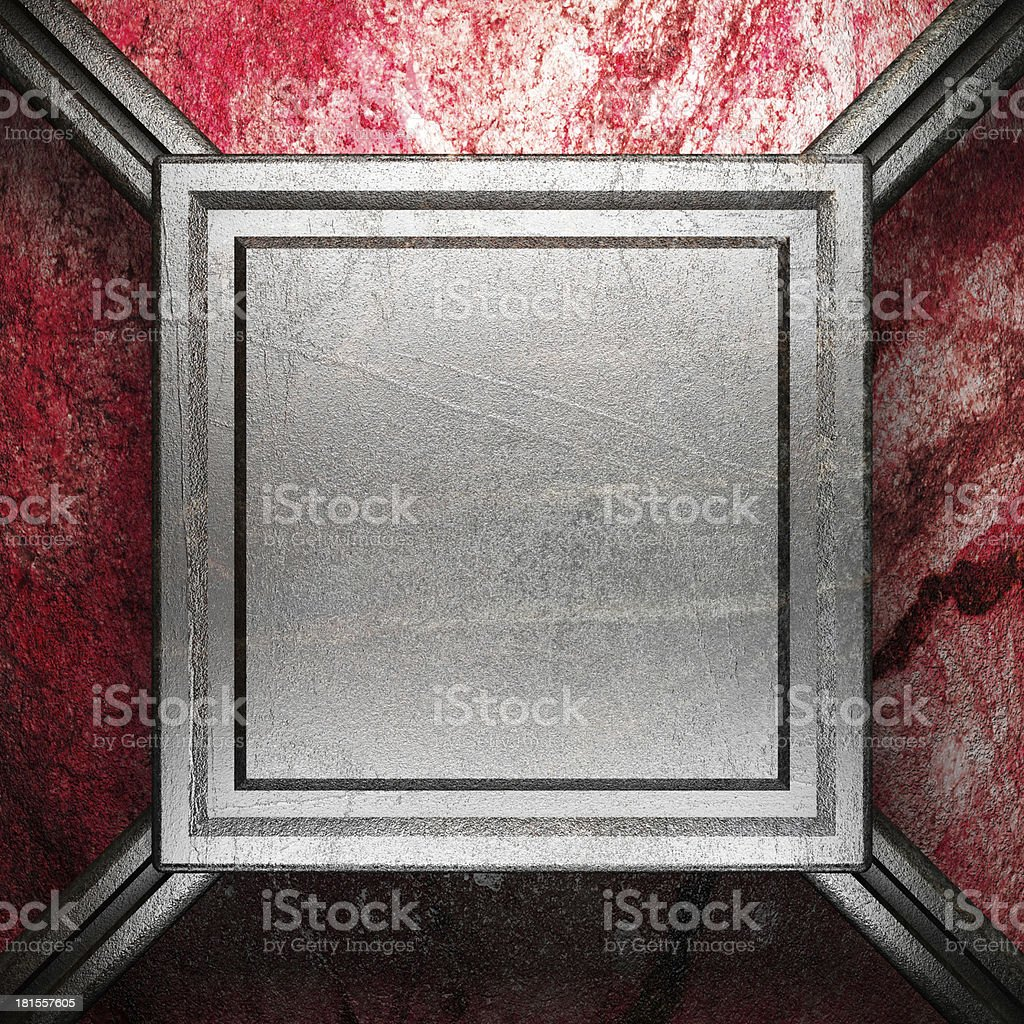 metal on wall royalty-free stock photo