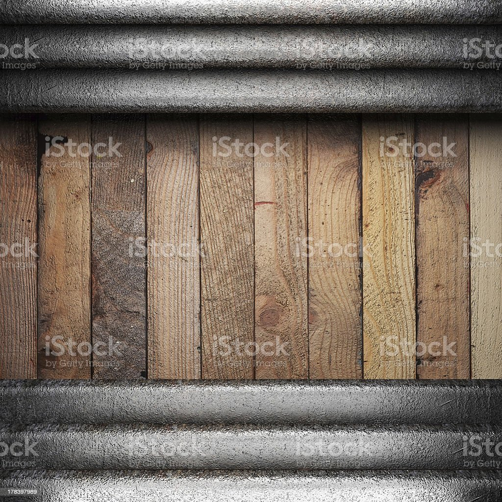metal on wooden background royalty-free stock photo