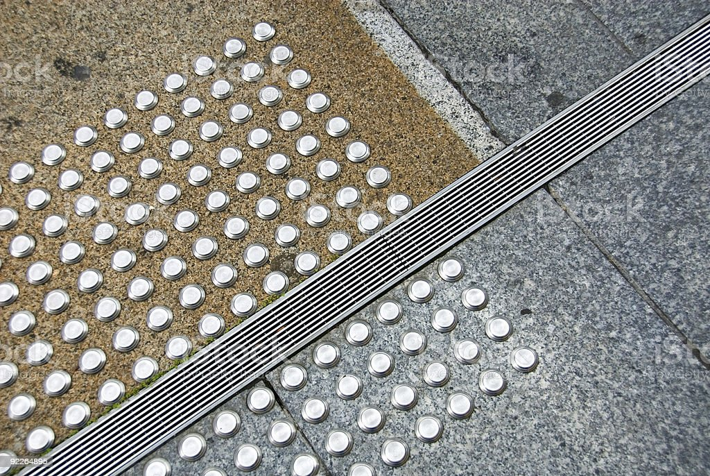 Metal Pads and a Covered Drain royalty-free stock photo