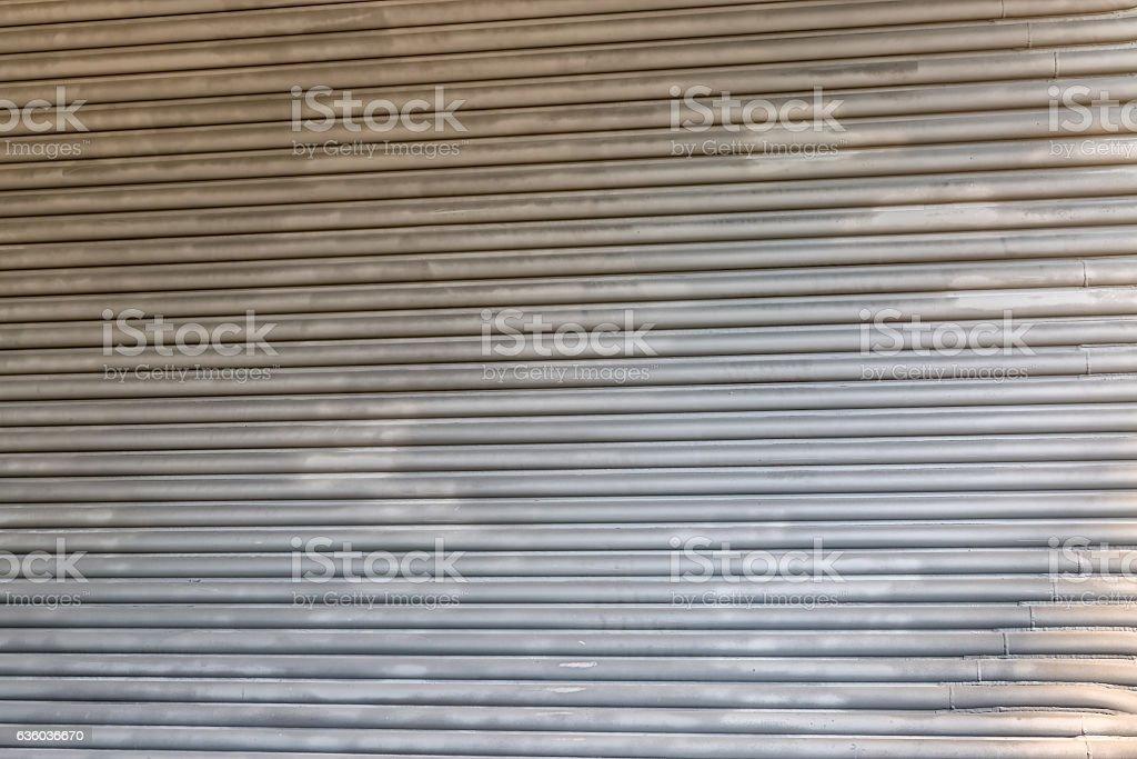 Metal panel detail stock photo
