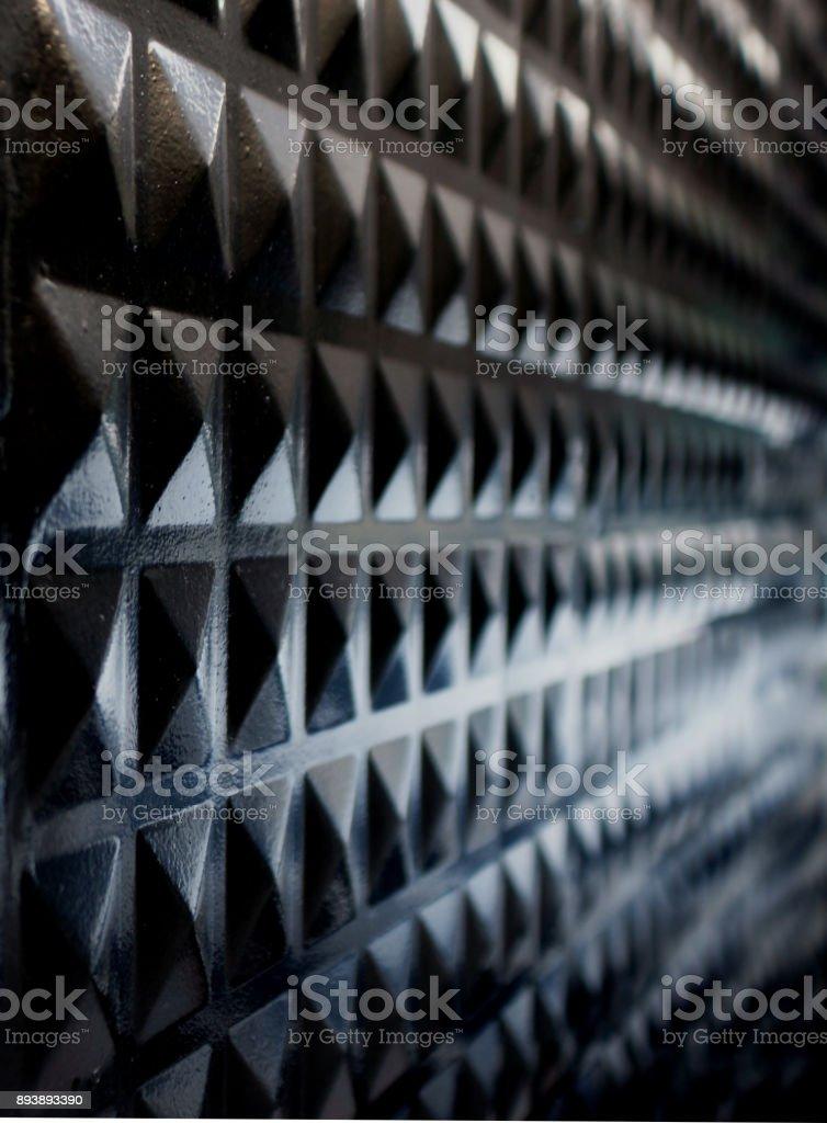 metal panel perspective stock photo