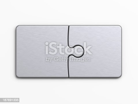 istock metal pieces of puzzle to place concepts with clipping path 187691335