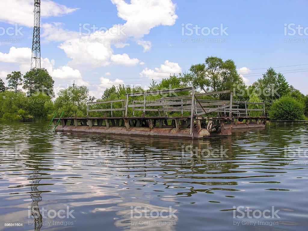 Metal pier construction Lizenzfreies stock-foto