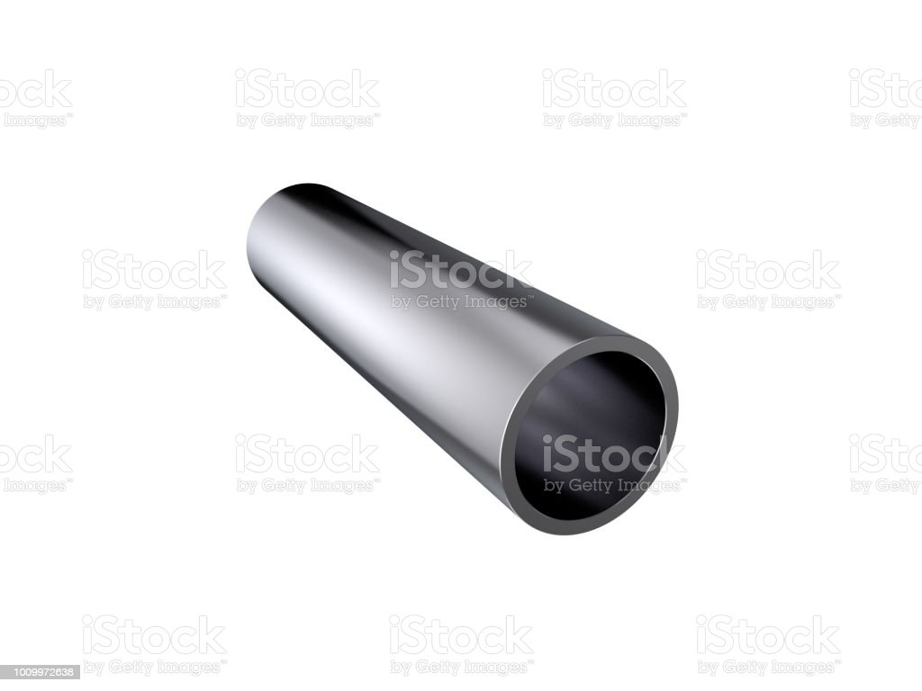Metal Pipe Isolated On White Background 3d Rendering