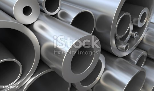 istock Metal pipes 172710285