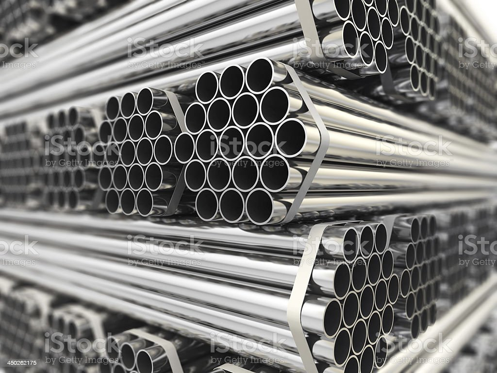 pipes aus Metall. – Foto