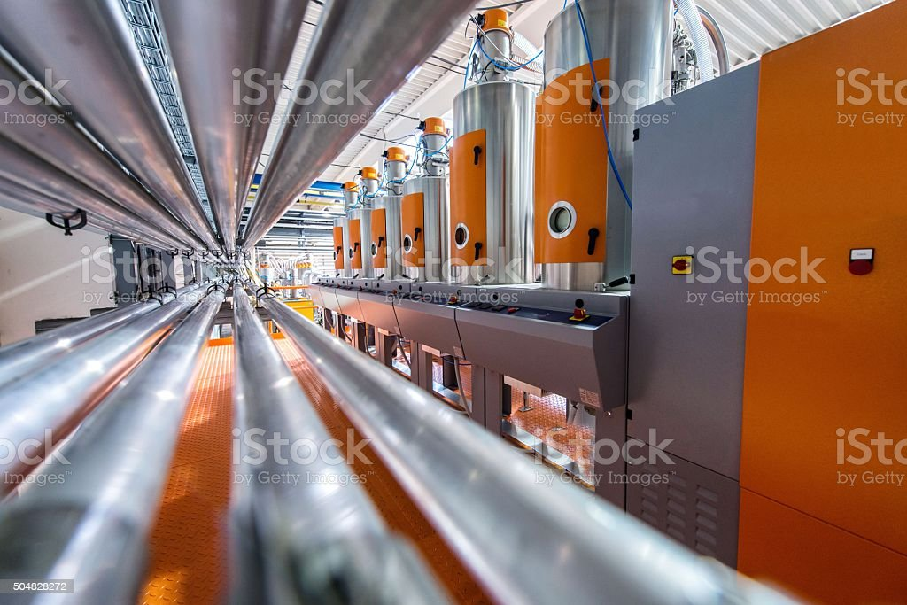 Metal pipes stock photo