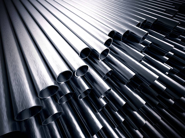 metal pipes - steel stock photos and pictures