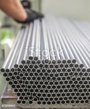 istock Metal pipes 673209352