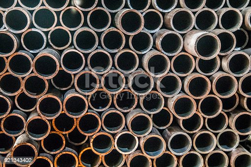 istock Metal pipes 921343402