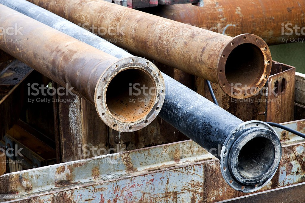 Metal pipes royalty-free stock photo