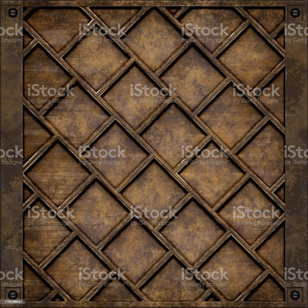 Metal plate cover (Seamless texture) royalty-free stock photo
