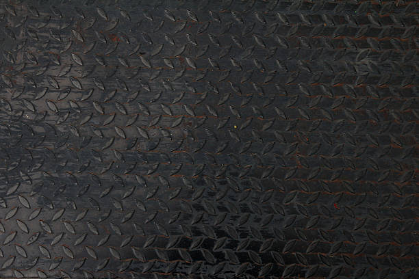 metal plate. detailed - diamond plate background stock photos and pictures
