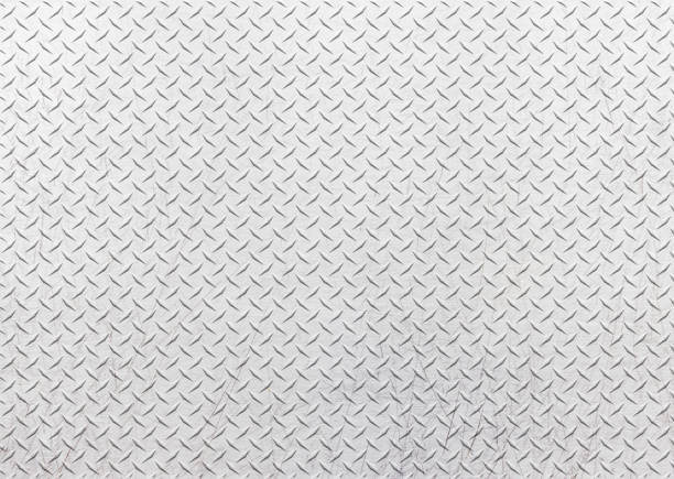 metal plate texture, iron sheet, seamless pattern background. - diamond plate background stock photos and pictures