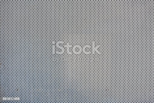 Seamless hexagon perforated metal grill pattern.